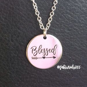 "Jewelry - ""BLESSED"" Inspirational Necklace"